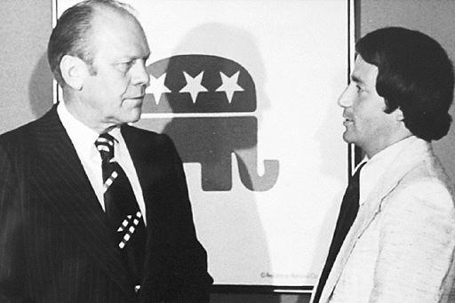 President Ford (left) and Raul Espinoza (first RNHA executive director) at 1967 banquet